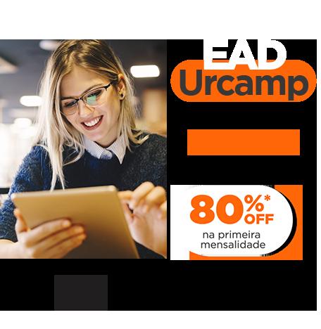 EAD Urcamp: Seu futuro começa agora. 80% off na primeira mensalidade.