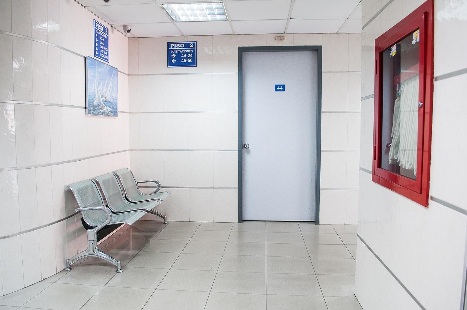 Recepção de um hospital
